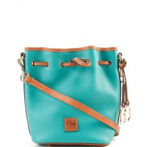 Womens Pebble Collection Small Drawstring Bucket Bag Spearmint - $148.50 20081661
