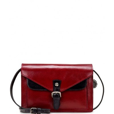Heritage Collection Petite Leather Cassano Crossbody Bag Red 20118050