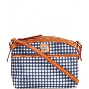 Gingham Collection Domed Crossbody Bag Navy 20155012