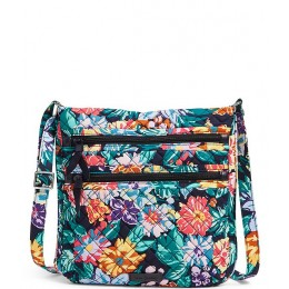 Iconic Triple Zip Hipster Quilted Crossbody Bag Happy Blooms 05056367