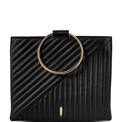 Le Pouch Ring Handle Quilted Leather Crossbody Bag Black 20119357