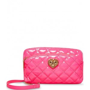 Patent Brights Quilted Crossbody Bag Pink 20150002