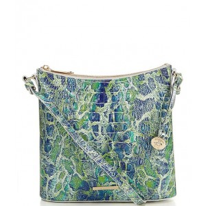 Women Melbourne Collection Katie Crocodile-Embossed Muse Crossbody Bag Green Viper 20140982