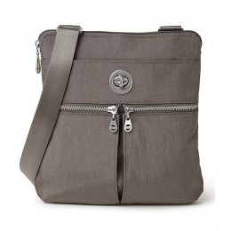 Women's International Collection Madras RFID Water Resistant Crossbody Bag Sterling Shimmer 20068086