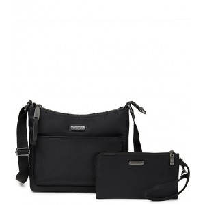 Women's Manhattan Collection Greenwich RFID Crossbody Bag With Removable Wristlet Black 05771351