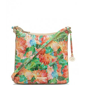 Women's Melbourne Collection Katie Crocodile-Embossed Muse Crossbody Bag Taffy 20140984