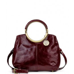 Womens Vintage Patent Collection Aria Shopper Satchel Bag Red 20117952