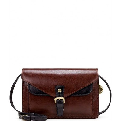 British Vegetable Tanned Colorblock Collection Cassano Crossbody Bag Tan Colorblock 20095132