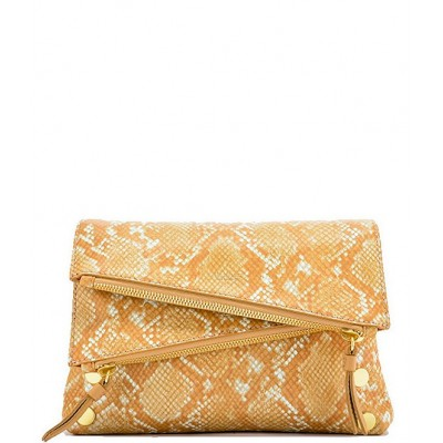 Dillon Snake Print Leather 6-Way Flap Small Crossbody Bag Toasted Tan Snake/Brushed Gold 20141639