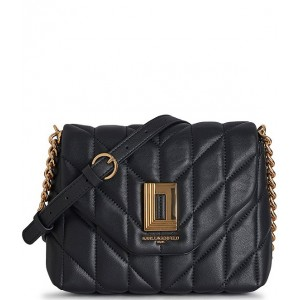 Lafayette Quilted Leather Crossbody Bag Black/Gold 20159369