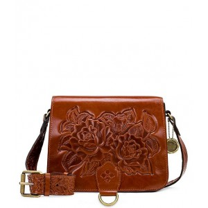 Rose Tooling Collection Ilina Leather Crossbody Bag Tan 20143092