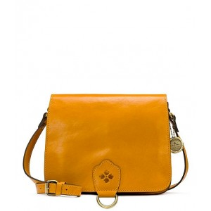 Womens Distressed Vintage Collection Ilina Leather Crossbody Bag Golden Rod Yellow 20143081