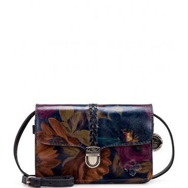 Women's Peruvian Painting Collection Belizzi Floral Braided Crossbody Bag Peruvian Paint 20110626