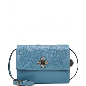 Women's Rose Tooling Collection Consilina Leather Crossbody Bag Safflower Blue 20143088