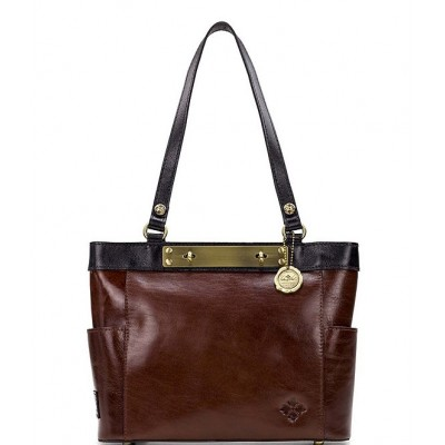 British Vegetable Tanned Colorblock Collection Rayleigh Tote Bag Tan Colorblock 20095133