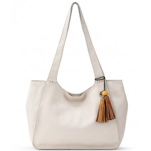 Huntley Leather Snap Tote Bag Stone - $159.00 20146152