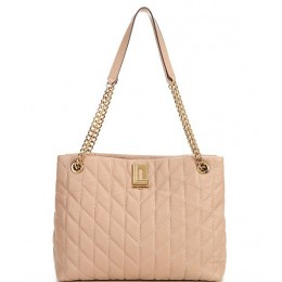 Lafayette Quilted Pebble Leather Snap Tote Bag Almond 20110802