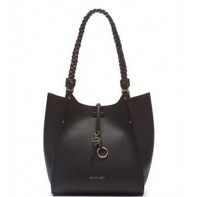 Shelly Small Braided Handle Tote Bag Black/Gold 20154811