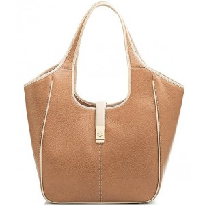 Women Henderson Collection Carla Leather Tote Bag Fawn 20143019
