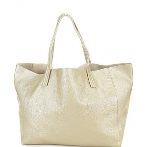 Womens Violet Metallic East West Tote Bag Champagne 20096807