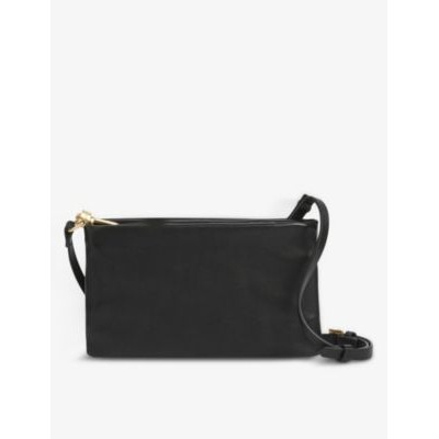 ALLSAINTS Womens Mila double-pouch leather cross-body bag GKBWFKQU