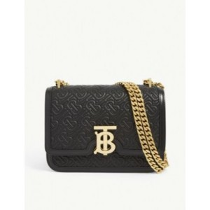 BURBERRY Women's TB monogram small leather shoulder bag on style YODR81NA
