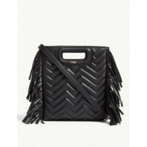 MAJE Fringed quilted leather M cross-body bag 2UUP8G38