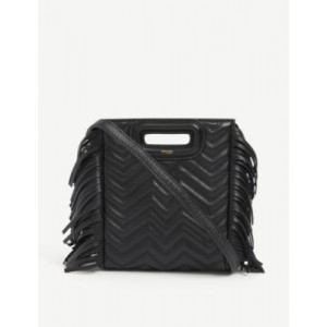 MAJE M quilted leather cross-body bag 2021 Trends S6UT2KVX