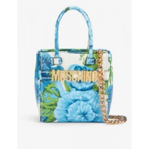 MOSCHINO Floral-print leather mini cross-body bag In Store 3KT8W61A