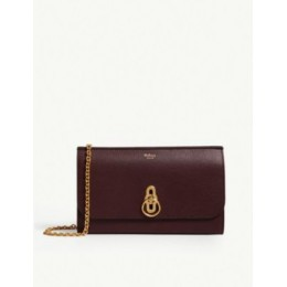 MULBERRY Amberley grained-leather wallet-on-chain New VB5INJWQ