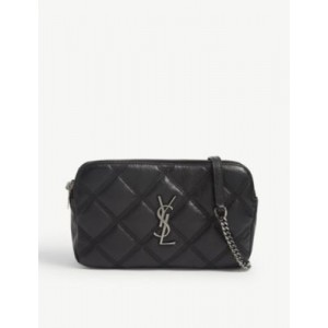 SAINT LAURENT Women Becky quilted leather camera bag CJM275BN