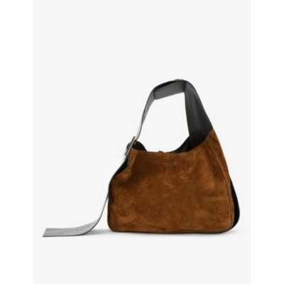 ACNE STUDIOS Womens Bucket suede and leather hobo bag At Target GNNA7CLP