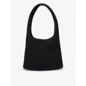 PANGAIA Women's Brand-embossed recycled and organic cotton-blend shoulder bag Design 1RXKB5TE