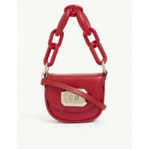 RED VALENTINO Resina chain-link mini leather bag Clearance NAZFN37X
