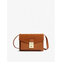 TED BAKER Kayleas luggage lock leather cross-body bag on sale online 6P3VPUZF