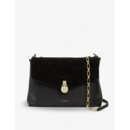 TED BAKER Women's Miriam leather and suede shoulder bag I3N4QBH4