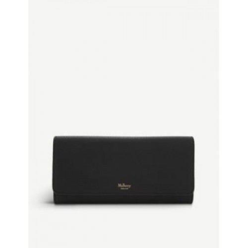 MULBERRY Grained leather continental wallet outlet MVLQSTBW