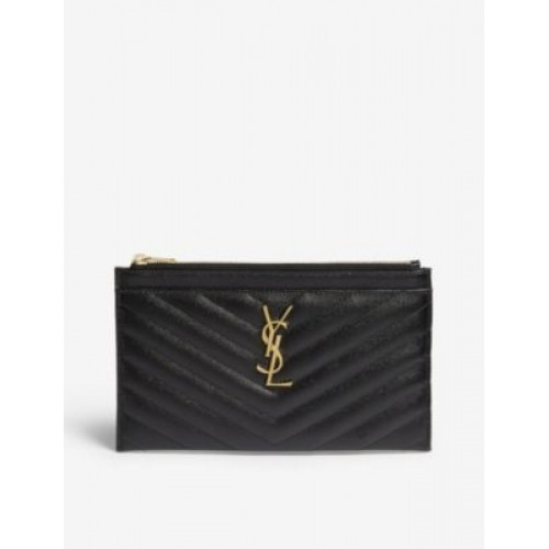 SAINT LAURENT Womens Monogram quilted leather pouch Z1INQMY7