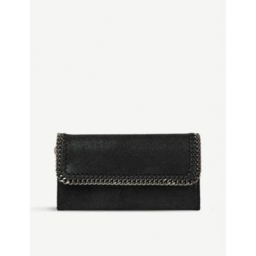 STELLA MCCARTNEY Women's Falabella faux-suede continental wallet Lowest Price NDKADPAP