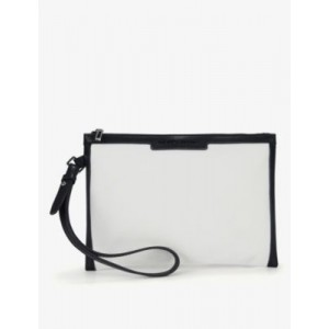 THE WHITE COMPANY Logo-embossed leather-trimmed cotton pouch Or Sale Near Me EJKJIPE4