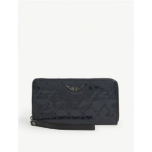 ZADIG&VOLTAIRE Womens Compagnon patent-embossed leather wallet Sale OTIX7C7R