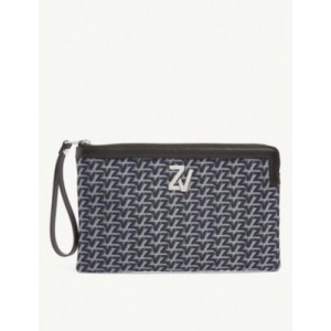 ZADIG&VOLTAIRE Women's ZV Initiale Le Compact leather pouch New FTPAHL26
