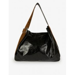 ACNE STUDIOS Bucket large suede and leather hobo bag Designer Sale M77ZH4WJ