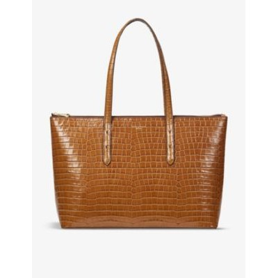 ASPINAL OF LONDON Regent croc-embossed leather tote bag 166Q4WRM