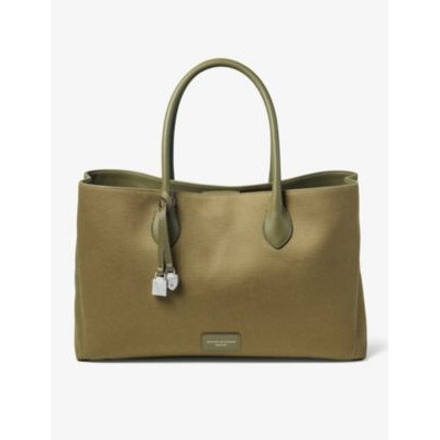 ASPINAL OF LONDON Women's London logo-embossed canvas tote bag Popular 2V1GKUQW
