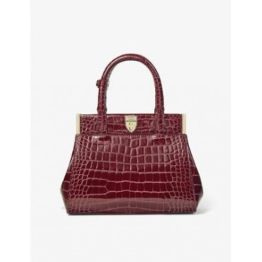 ASPINAL OF LONDON Grace mini crocodile-embossed leather top handle bag P3VXBVZX