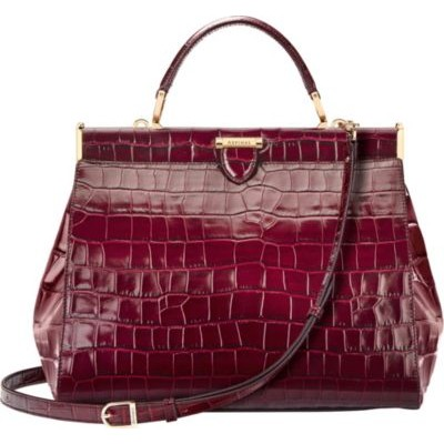 ASPINAL OF LONDON Women's Florence large embossed leather handbag spring 2021 VYW12YTH