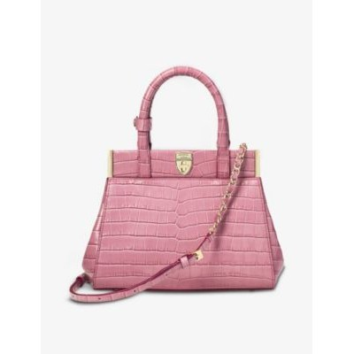 ASPINAL OF LONDON Women's Grace small crocodile-embossed leather top-handle bag EGVF3SVQ