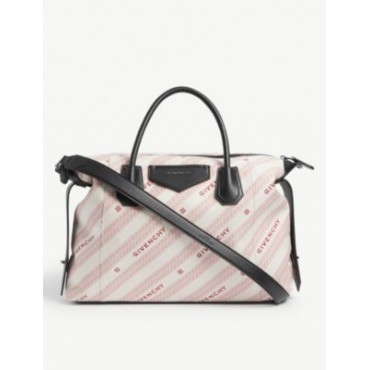GIVENCHY Women Antigona Soft medium leather and canvas tote bag Recommendations OPVHP1J1