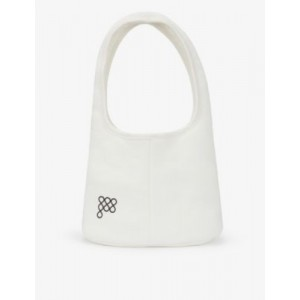 PANGAIA Brand-embossed recycled and organic cotton-blend shoulder bag AQIENPMR